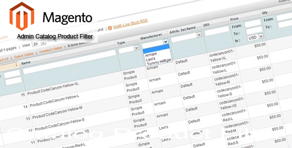 Magento Admin Catalog Product Filter - CodeCanyon Item for Sale