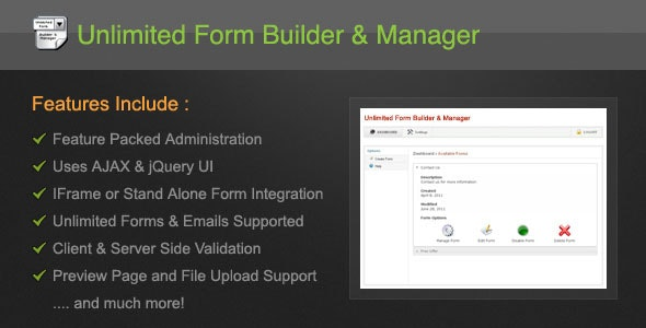 Unlimited Form Builder & Manager - CodeCanyon Item for Sale