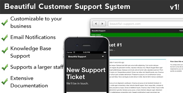 Beautiful Customer Support and Article System