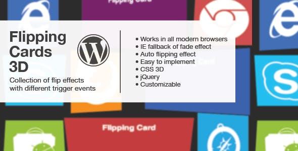 Flipping Cards 3D - Wordpress