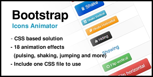 Bootstrap Icons Animator - CodeCanyon Item for Sale
