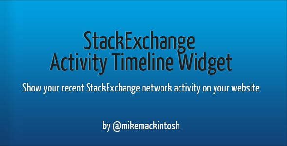 StackExchange Activity Timeline Widget