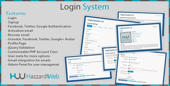 Account System Multi-Feature - CodeCanyon Item for Sale