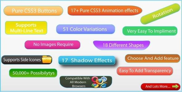 Pure CSS3 Animated Buttons Megapack - CodeCanyon Item for Sale