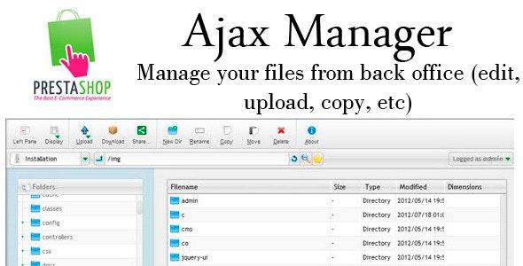 Prestashop AjaxManager - CodeCanyon Item for Sale