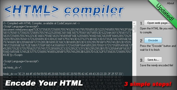 HTML Compiler - CodeCanyon Item for Sale