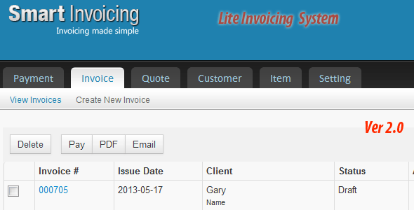 Lite Invoicing System - CodeCanyon Item for Sale