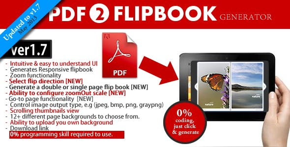 PDF to HTML Flipbook generator