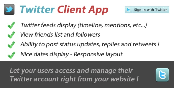 Twitter Client App - CodeCanyon Item for Sale
