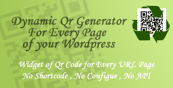 Dynamic Qr Generator - Wordpress Plugin