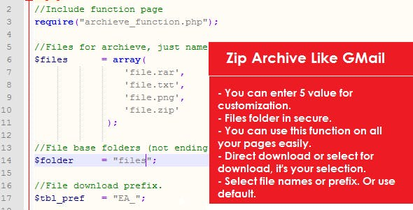 ZIP Archieve Like GMail