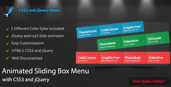 Animated Sliding Box Menu - CodeCanyon Item for Sale