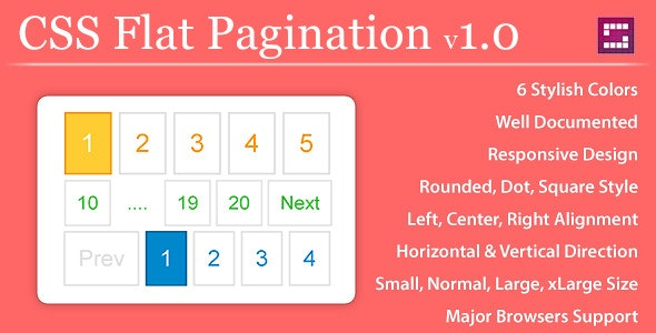CSS Flat Pagination - CodeCanyon Item for Sale