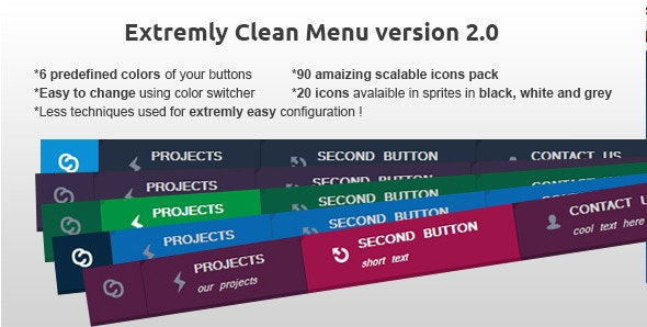 Clean CSS3 Menu - CodeCanyon Item for Sale
