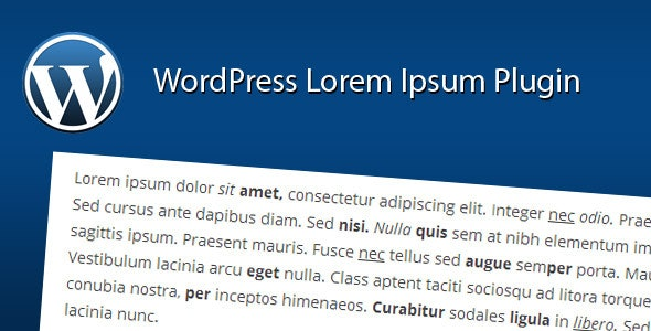 WordPress Lorem Ipsum Plugin - CodeCanyon Item for Sale