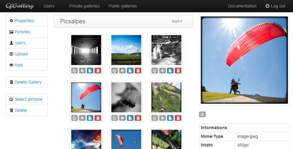 PHP Gallery cfGallery - CodeCanyon Item for Sale