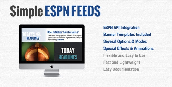JQuery Simple ESPN Feeds - CodeCanyon Item for Sale