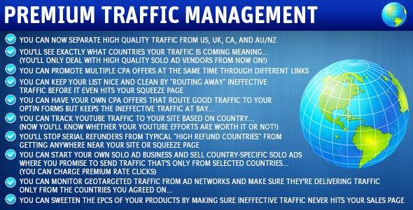 Wordpress Premium Traffic Management Plugin - CodeCanyon Item for Sale