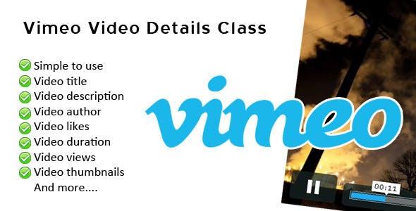 Vimeo Video Details Class