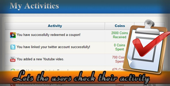 User Activity 1.0 For Powerful Exchange System - CodeCanyon Item for Sale