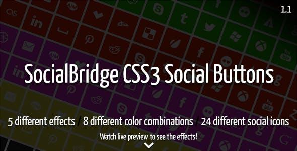 SocialBridge CSS3 Social Buttons