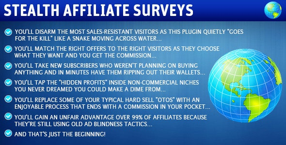 Stealth Affiliate Surveys - CodeCanyon Item for Sale