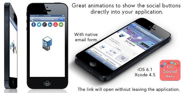 EGi Social Menu - Fantastic Social Menu for iPhone - CodeCanyon Item for Sale