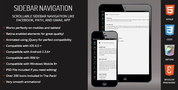 Reside | Sidebar Navigation for Mobiles & Tablets