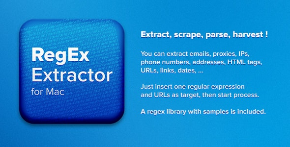 RegEx Extractor for Mac - CodeCanyon Item for Sale