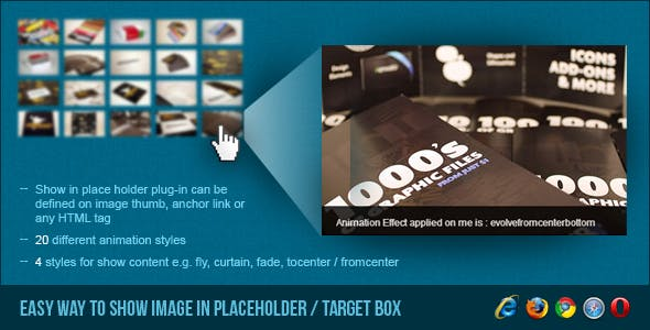 Show Image in Placeholder/Target Box - jQuery