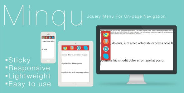 Minqu: Jquery Menu For On-page Navigation