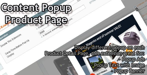 Content Popup Product Page