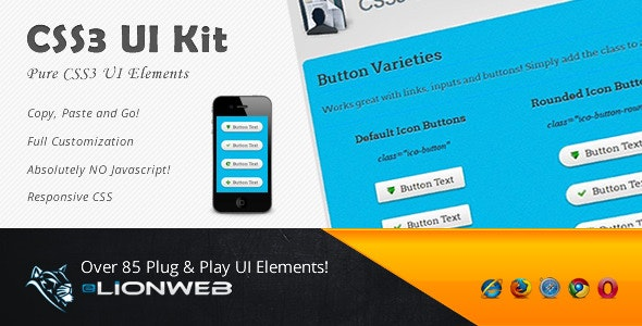 CSS3 UI Kit - Clean - CodeCanyon Item for Sale