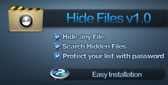 Hide Files - CodeCanyon Item for Sale