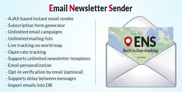 Email Newsletter Sender with Live Geo-tracking