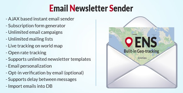 Email Newsletter Sender with Live Geo-tracking - CodeCanyon Item for Sale