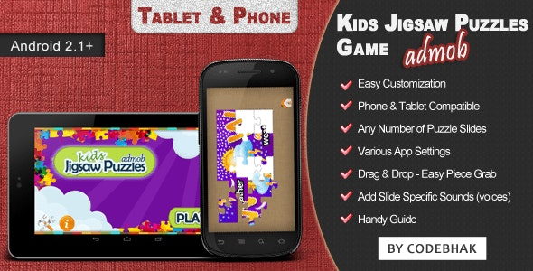Kids Jigsaw Puzzle Game with AdMob - CodeCanyon Item for Sale
