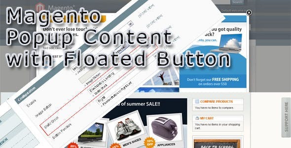 Magento Popup Content with Floated Button