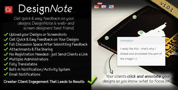 Design Note - Easy Client Feedback on Your Designs - CodeCanyon Item for Sale
