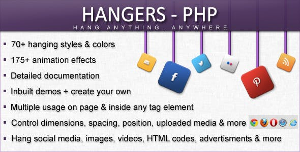 Hangers - PHP [Hang Anything, Anywhere]