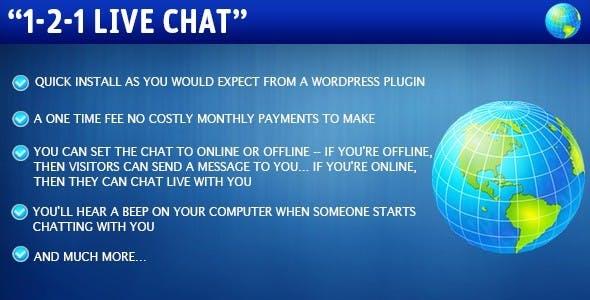 Wordpress 1-2-1 Live Chat Plugin