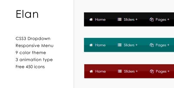 Elan - CSS3 Responsive Dropdown Menu - CodeCanyon Item for Sale