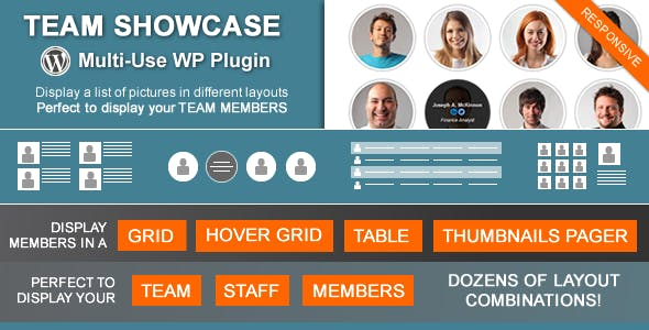 Team Showcase - Wordpress Plugin        Nulled