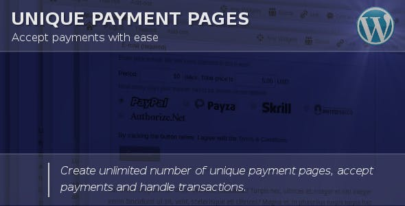 Unique Payment Pages