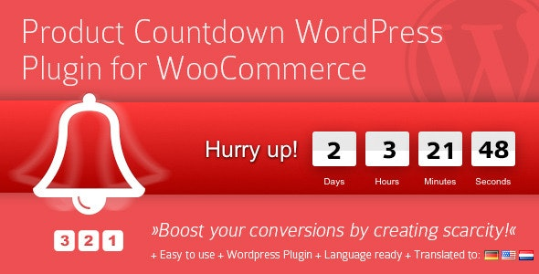 Product Countdown WordPress Plugin - CodeCanyon Item for Sale