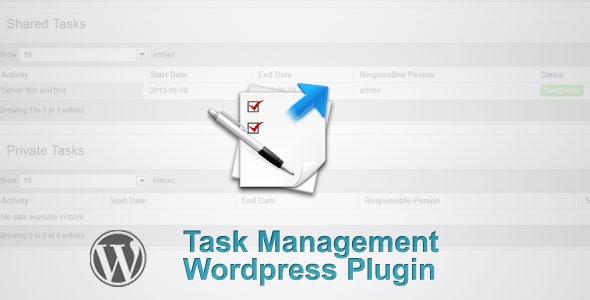 Wordpress Task Management (Task Manager) - CodeCanyon Item for Sale