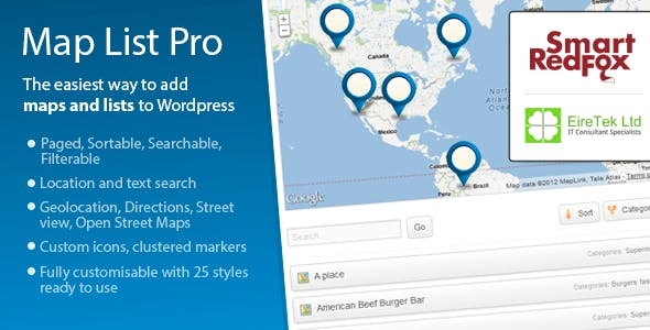 Map List Pro - Google Maps & Location directories        Nulled