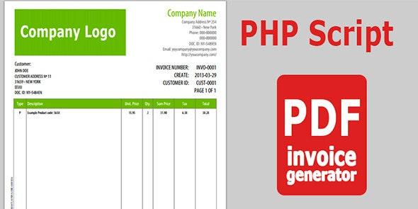 PDF Invoice Generator v 1.0 - CodeCanyon Item for Sale