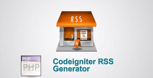 Codeigniter RSS generator