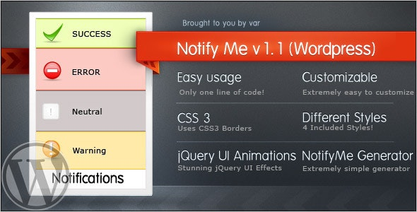 NotifyMe (Wordpress Edition) - CodeCanyon Item for Sale